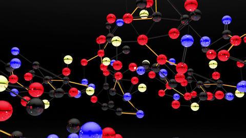 Complex Molecule Structure 08 Stock Video Footage