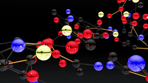 Complex Molecule Structure 08 Animation