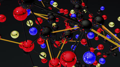 Complex Molecule Structure 10 Stock Video Footage
