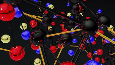 Complex Molecule Structure 10 Stock Video Footage