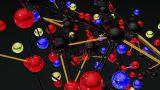 Complex Molecule Structure 10 stock footage