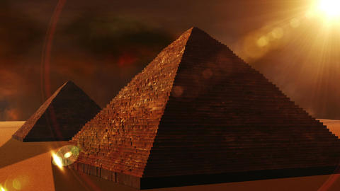 Egyptian Pyramid 02 Stock Video Footage