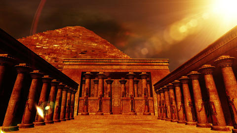 Egyptian Shrine 02 Stock Video Footage