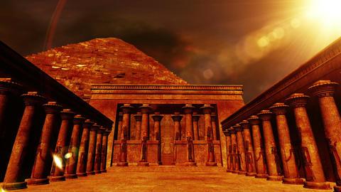 Egyptian Shrine 02 Stock Video Footage