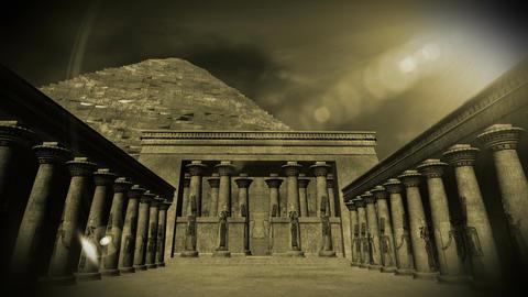 Egyptian Shrine 04 Stock Video Footage