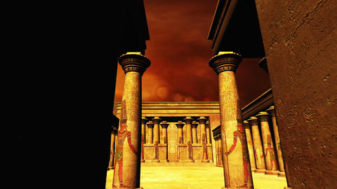 Egyptian Shrine 06 Stock Video Footage