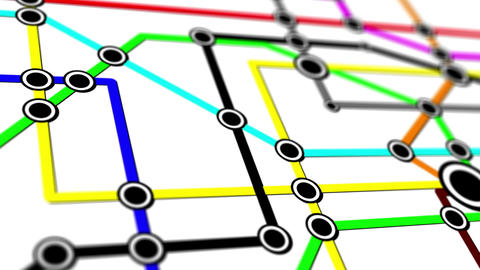 Subway Network People Connections v1 11 Animation