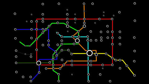 Subway Network People Connections v2 01 Animation