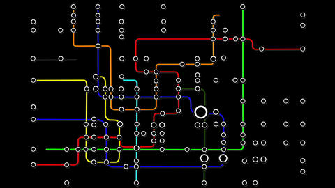 Subway Network People Connections v2 03 Animation