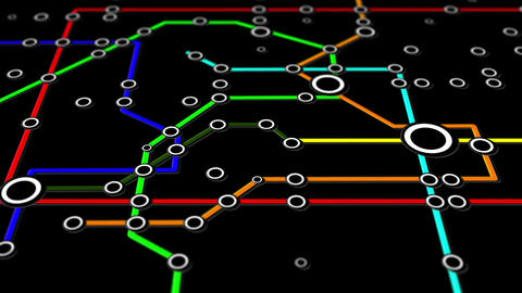 Subway Network People Connections v3 01 Animation