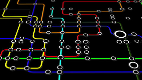 Subway Network People Connections v3 03 Animation