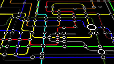 Subway Network People Connections v3 03 Stock Video Footage