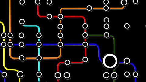 Subway Network People Connections v6 03 Animation
