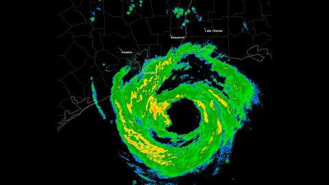 Hurricane Ike Landfall Time Lapse Stock Video Footage
