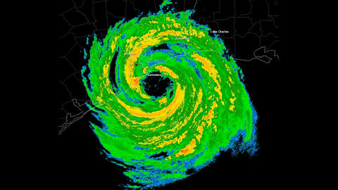 Hurricane Ike Landfall Time Lapse Stock Video Footage