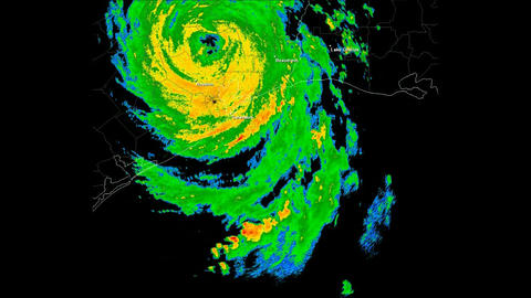 Hurricane Ike Landfall Time Lapse Animation