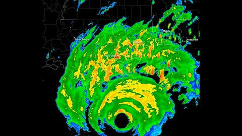Hurricane Katrina Landfall Time Lapse Stock Video Footage