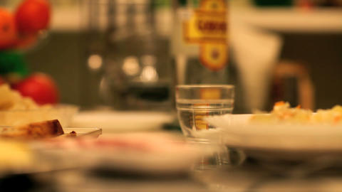 drinks and snacks Stock Video Footage
