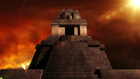 Maya Pyramid Dramatic Sunset 08 Animation
