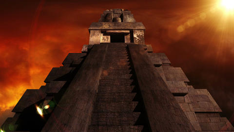 Maya Pyramid Dramatic Sunset 10 Animation