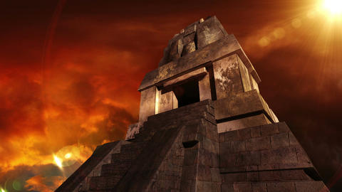 Maya Pyramid Dramatic Sunset 12 Animation