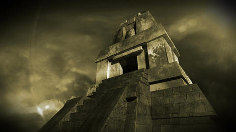Maya Pyramid Dramatic Sunset 16 Animation