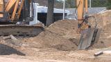 Back Hoe Street Construction Footage