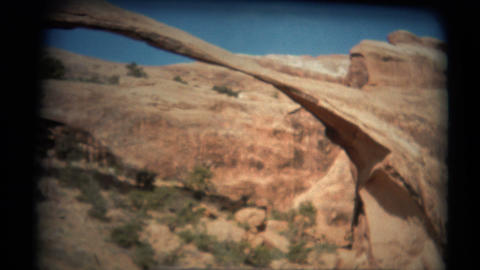 (1950's 8mm Vintage) Utah Arches 5 Clips Footage