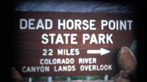 (1950's 8mm Vintage) Dead Horse Point State Park stock footage
