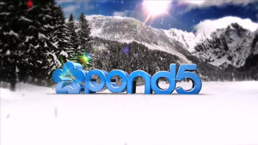 Logo 3 D In Nature 6 ( Winter Pack 3 In 1) After Effects Template