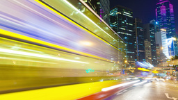 4k timelapse video of busy traffic in the central... Stock Video Footage