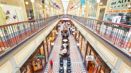 4k timelapse video of people shopping in Adelaide Arcade Footage