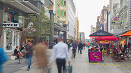 4k timelapse video of people in Rundle Mall in Adelaide, Australia Footage