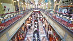 People shopping in Adelaide Arcade on Jun 19, 2014 Footage