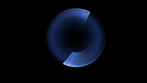 blue circle in motion , rotating Animation