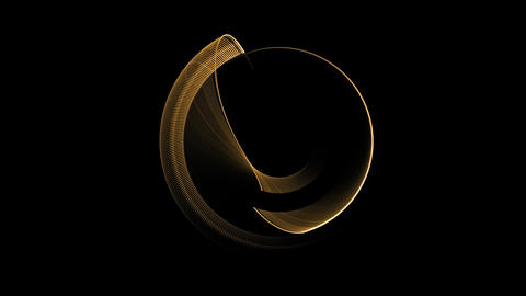 golden wire circle in motion Animation