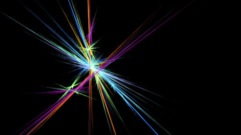 Bright Colorful Fibers in Motion Animation