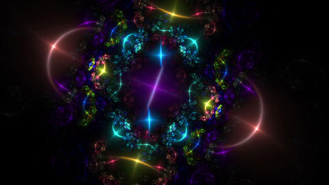colorful sparkling lights Animation