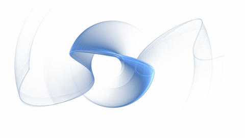 Dynamic Blue Rotational Motion Animation