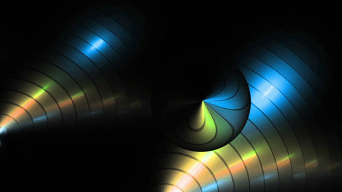 Metallic Colorful Circular Background Animation