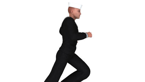 走る海兵隊員 Animation