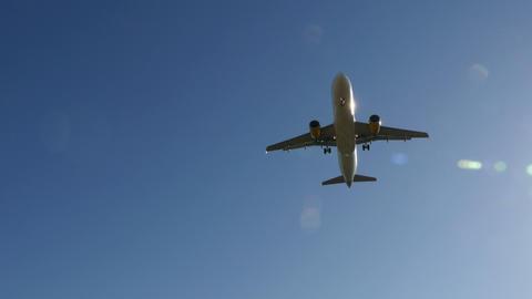 Jet plane Airbus A320 approaching landing 4k Footage