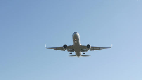 Commercial Airliner Landing stock footage