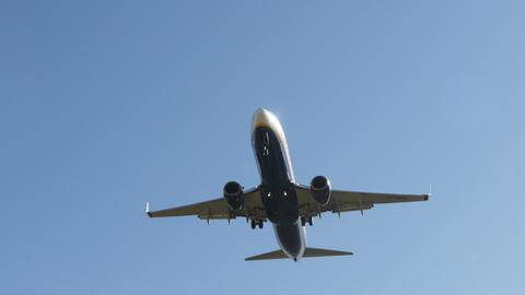 Jet plane Boeing 737 approaching landing Footage