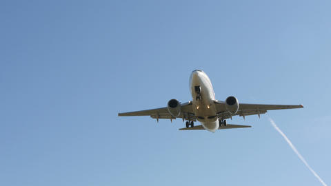 Jet Plane Boeing 737-6D6 Approaching Landing 4k stock footage