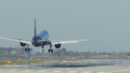 Passenger airplane landing. 4k Footage