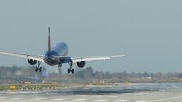 Passenger airplane landing. 4k Live Action