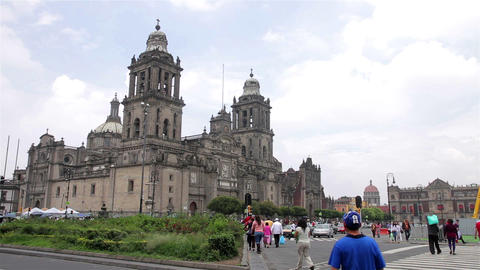 Mexico City, Mexico-CIRCA June,2014: Metropolitan Cathedral. The Building Is One stock footage