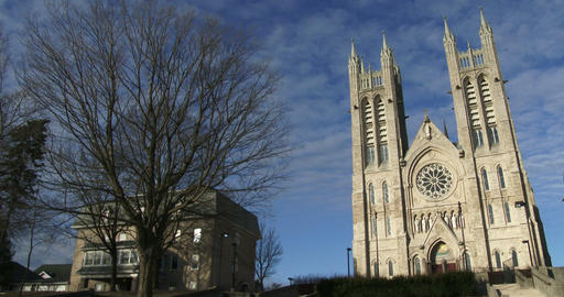 Basilica of our Lady Immaculata in Guelph, Ontario Footage