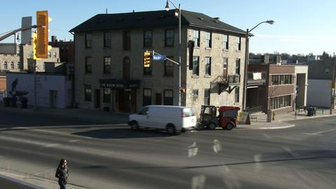Establishing shot of downtown Guelph, Ontario Footage